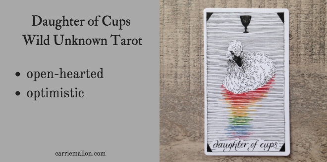 Daughter of Cups :: Wild Unknown Tarot Card Meanings