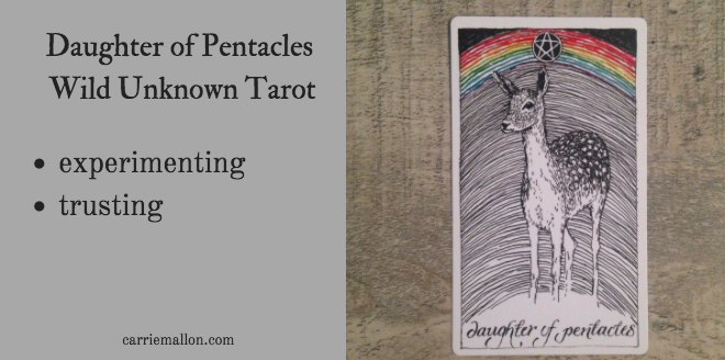 Daughter of Pentacles :: Wild Unknown Tarot card meanings