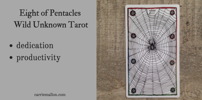 Eight of Pentacles :: Wild Unknown Tarot Card Meanings | Carrie Mallon