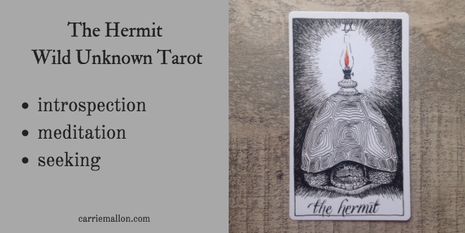 The Hermit Wild Unknown Tarot Card Meanings Carrie Mallon