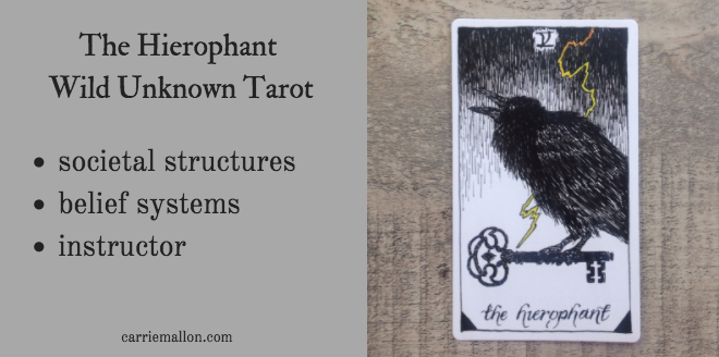 The Hierophant :: Wild Unknown Tarot Card Meanings   Carrie