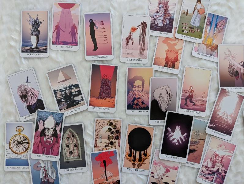 The Hayworth Tarot: send help I love it
